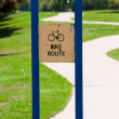 Bike route sign — Stock Photo #23848573