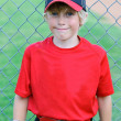 Portrait of little league player — Stock Photo