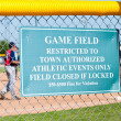 Baseball Restriction Sign — Stock Photo