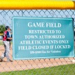 Stock Photo: Baseball Restriction Sign
