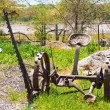 Stock Photo: Old rusty tractor
