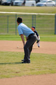 Little league baseball umpire — Stock Photo