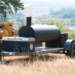 Smoker grill on a farm — Stock Photo