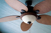 Outdoor ceiling fan of residential home — Stock Photo