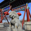 The  stone lion of china - Stock Photo