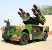 Military missile vehicle — Stock Photo