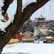 The snowscape of Summer Palace — Stock Photo
