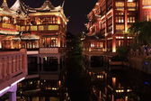 Nightscape of China historic town — Stock Photo