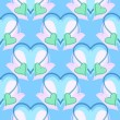 Blue, green and pink hearts pattern — Stock Vector