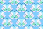 Blauw, groen en roze hart patroon — Stockvector