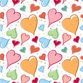 Bright hearts pattern — ストックベクタ