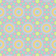 Childish Festive Seamless Pattern — Image vectorielle