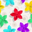 Seamless pattern with flowers — Vettoriali Stock