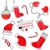 Doodle χριστούγεννα — Διανυσματικό Αρχείο