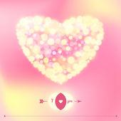 Mutlu Sevgililer günü kartpostal. — Stok Vektör