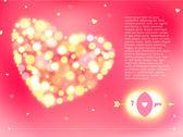 Postcard for Happy Valentine's day. — Vetor de Stock