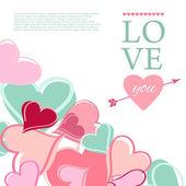 Mutlu Sevgililer günü kartı. — Stok Vektör