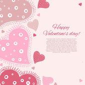 Happy valentijnsdag kaart. — Stockvector