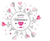 Postcard for Valentine's day — Stockvector