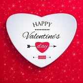 幸せなバレンタインの日カード. — ストックベクタ