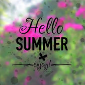 Summer card with flowers — Stock Photo