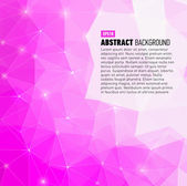 Pink Polygonal abstract background — Stock Photo