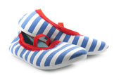 Striped shoes — Stock Photo