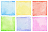 Watercolor squares — Stock Photo