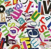 Magazine alphabet clippings — Stock Photo