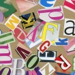 Stock Photo: Magazine alphabet clippings