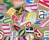 Magazine alphabet clippings — Stock Photo