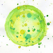 Watercolor circle — Stock Photo