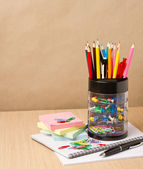 School and office stationary — Stock Photo