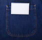 White card in pocket — Stock Photo