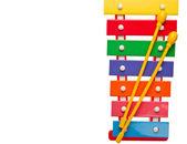 Oyuncak ksilofon — Stok fotoğraf