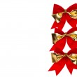 Christmas ribbons bow — Stock Photo