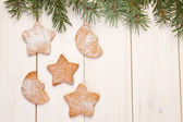 Christmas gingerbread cookies — ストック写真