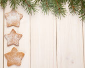 Christmas gingerbread cookies — Foto Stock