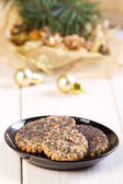 Cookies with poppy seed — Stock Photo