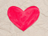 Kırmızı kağıt kalp — Stok fotoğraf