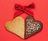 Heart shaped cookies — ストック写真