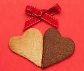 Biscotti a forma di cuore — Foto Stock