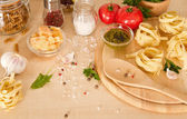 Ingredients for Italian pasta  — Photo