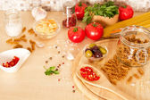 Ingredients for Italian pasta  — Stok fotoğraf