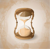 Retro hourglass — Stock Vector