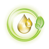 Eco oil drops — Stock Vector