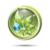 Eco friendly etikett — Stockvektor