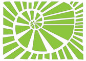 Green spiral — Stock Vector