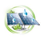 Etichetta del pannello solare — Vettoriale Stock