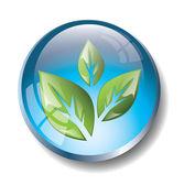 Blue eco badge — Stock Vector